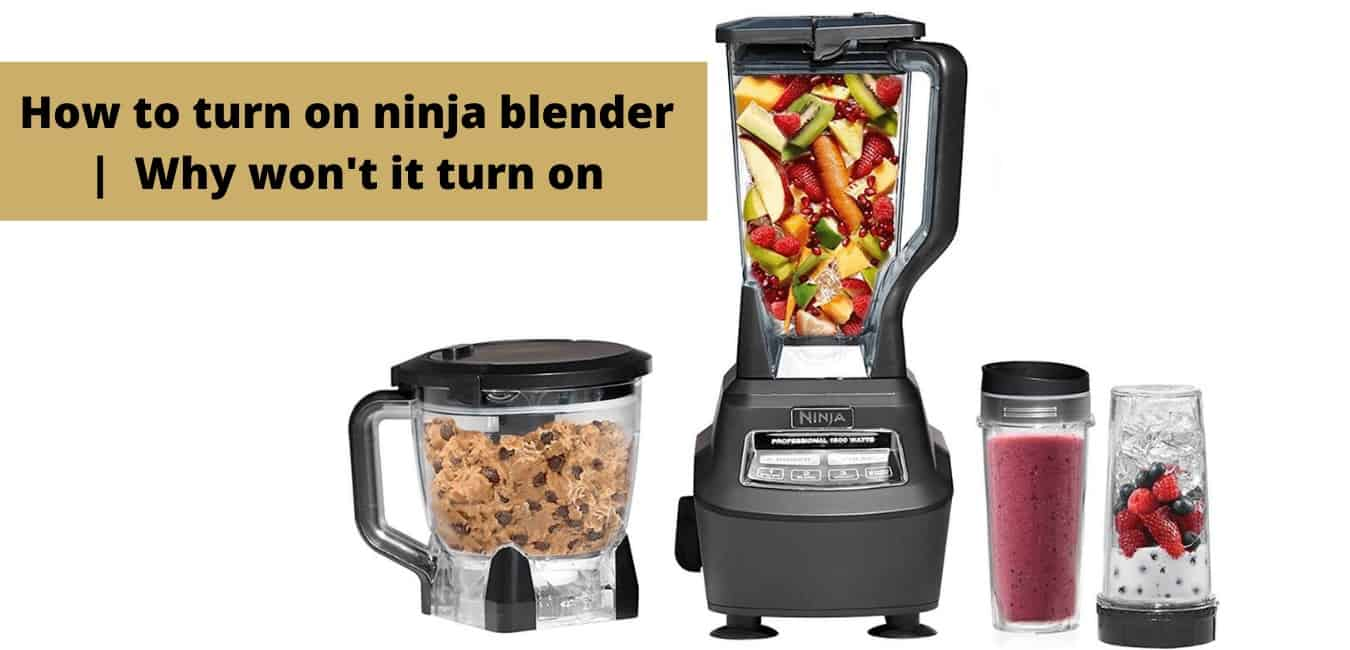 How to turn on ninja blender |  Why won't it turn on [All Issues Solved]